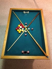 Vintage Bumper Pool Table