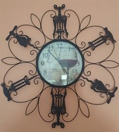 Wine Bottle Opener Motif Clock
