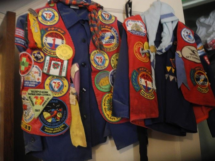 Cub scout uniforms, patches etc.