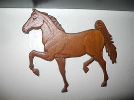 Horse wall plaque