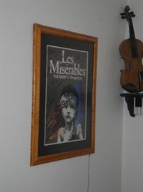 Les Miserables poster signed by cast members