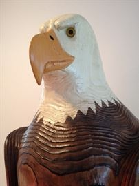 6' tall carved eagle  $200