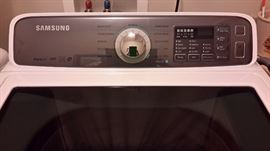 Samsung Electric Washer This 2017 ENERGY STAR Certified dryer is designed to help you save resources and money. This dryer comes packed with advanced features like Multi-Steam Technology to help combat wrinkles and Eco Dry Technology, which uses up to 25% less energy for every load. Set new with warranty was $1589.00 basically $795.00 each. Our price $350.00 each