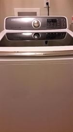 Samsung Washer - 2017 with transferable warranty expires 4/2021  Extra CapacityAquaJet Deep Clean TechnologyDiamond Drum Wash BasketPre-Soak OptionVibration Reduction Technology Get More Laundry Done in Less Time Spend less time in the laundry room. This washer helps take the guesswork out of getting your clothes clean while giving you complete control over how to care for your clothes. Laundry day will now be less of a long, drawn out chore to give you more time with your family. You'll have so much free time now that you can even start taking naps—because you can. Load in the Laundry This Samsung top-load washer has an extra-large 4.8 cu. ft. of interior wash space. This capacity is perfect for tossing in towels, loading in bulky bedding and heaping in piles of dirty work and school clothes. No more trekking out to the laundromat for a specialty washer for huge and bulky loads. Serious Cleaning Power AquaJet Deep Clean technology works with the Diamond Drum wash basket to tackle Set