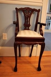 Mahogany, chippendale child's booster chair