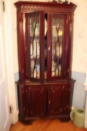 Mahogany Corner Cabinets (2)