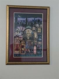 """""""Dubuque Stained Glass"""" Print"""