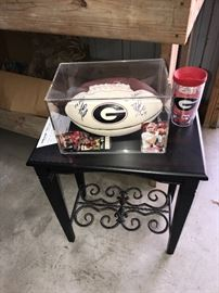 SIGNED GEORGIA BULLDOGS FOOTBALL BY DAVID GREEN AND DAVID POLLACK