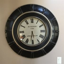 One of many fabulous wall clocks available in this sale.