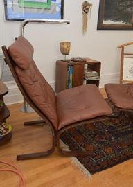 Mid Century Modern Ingmar Relling Westnofa Siesta Chair & Ottoman