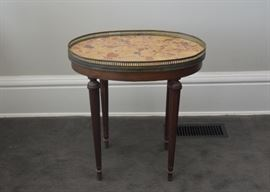 Antique Stone Top Occasional / Parlor Table