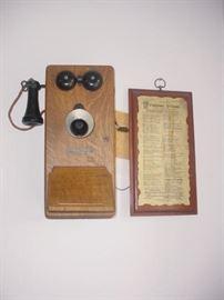 1930's wall telephone