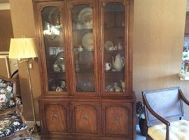 ANOTHER CHINA CABINET FULL OF LOVELY DECORE