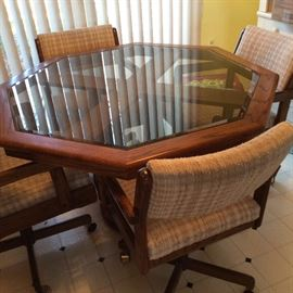 GLASS TOP DINETTE TABLE