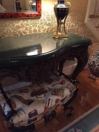 Marble top console - bench