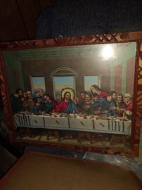 """Great picture with wood frame and """"jazzed up"""""""