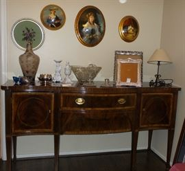 Henredon Traditional style Buffet.  Beautiful - quality furniture.  Unique old home decor framed