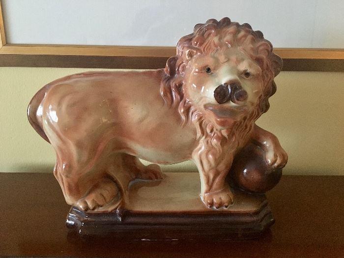 Staffordshire Lion w/orb