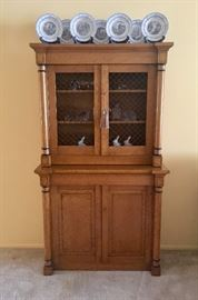 Empire style Tiger Maple Cupboard