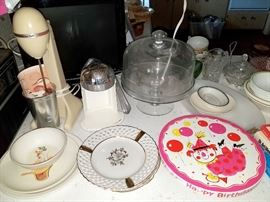 Vintage cake plate and more