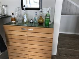 Contemporary dry bar from Crate & Barrel