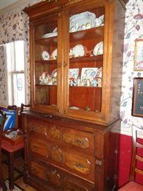 Eastlake vintage china hutch