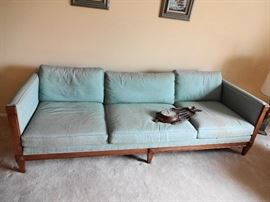 Mid Century down filled sofa, by Heritage