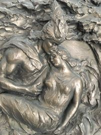 STUNNING Bashka Paeff relief depicting Wagner's opera The Ring of the Nibelung