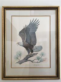 Albert Earl Gilbert, Eagle, Signed Print