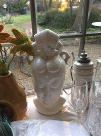 Vintage  female Hindu Parvati light fixture