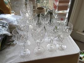 Crystal stemware and misc barware