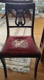 One of six Duncan Phyfe chairs