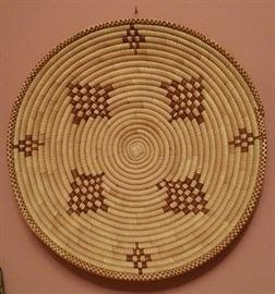 Swaziland woven platter - wall hanging