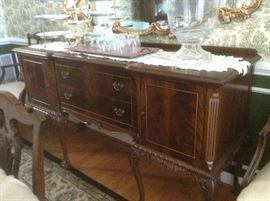 Chippendale Mahogany  Back Sideboard/ Buffet