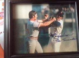 "Baseball Photo's 8X10 ""The Fight"" 1973  Pete Rose & Bud Harrelson"