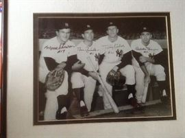 1961 infield  World Series Champion New York Yankees Autographed