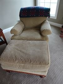 Pair of Century Chairs with Ottomans