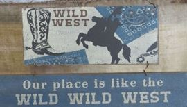 Wild West Hanging Sign