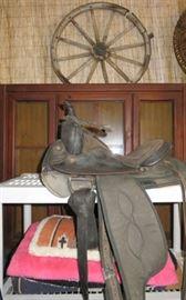 Big Horn Western Padded Seat Trail Leather Horse Saddle