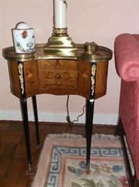 French side table w/inlay