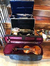 Violin and 2 trombones