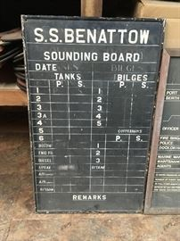 Antique Ships Chalkboard S.S. Benattow - there are 2 available