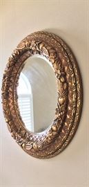 Large Oval Mirror.