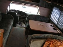 seating behind drivers area of coachman