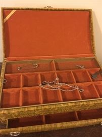 Jewelry box, inside view