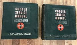 RARE!  Not only do we have one, but two!  Coca-Cola COOLER SERVICE MANUALS.  1956 AND 1958