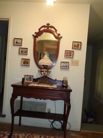 1880's English vintage Oil Lamp converted to electric