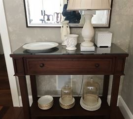 Custom buffet table and part of the beautiful china available.