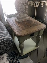 Country French Coffee & end tables & matching dining set