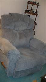 blue recliner